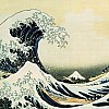 Tsunami by hokusai 19th century